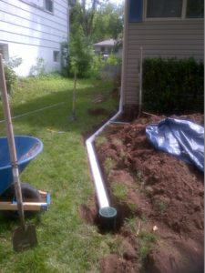 Kansas City French Drains Buried Downspouts Drainage